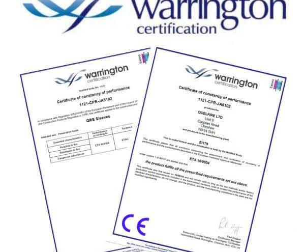 Warrington Certification Certificates
