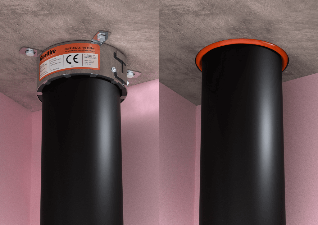Pipe penetration sealing – fire collars or intumescent pipe