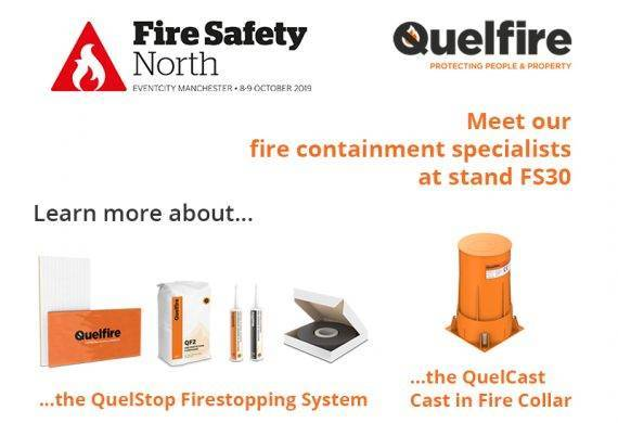Quelfire exhibiting at Fire Safety North 2019