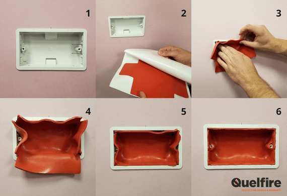 How to install an Intumescent Putty Pad in an Electronic Socket Box