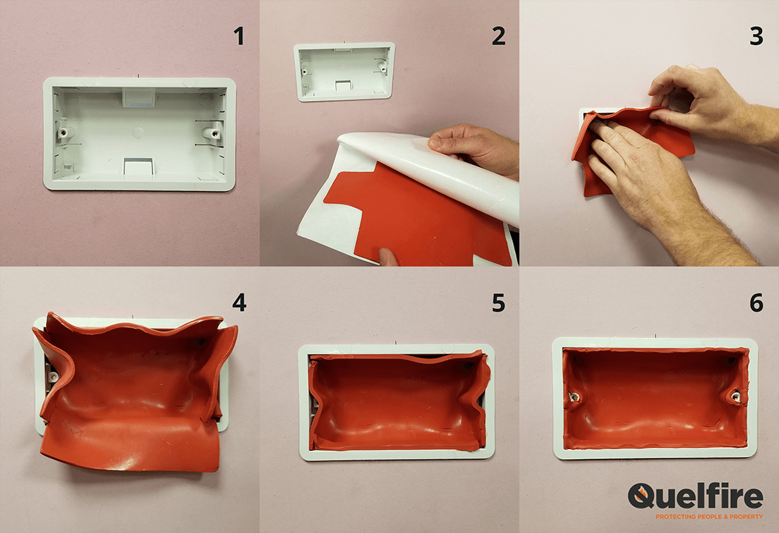 How To Install An Intumescent Putty Pad In An Electrical