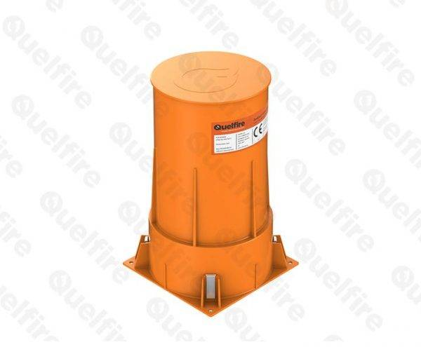 QuelCast Cast In Fire Collar to suit 110mm diameter pipes