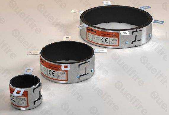 QWR CE Marked Intumescent Fire Collars for plastic pipes