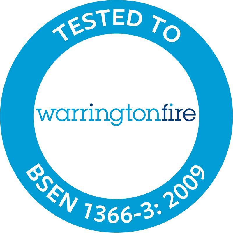 Quelfire Product tested to BS EN 1366-3: 2009 at Warringtonfire